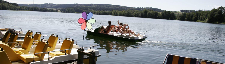 Spaß auf dem Illmensee mit der Bootsvermietung Hecht